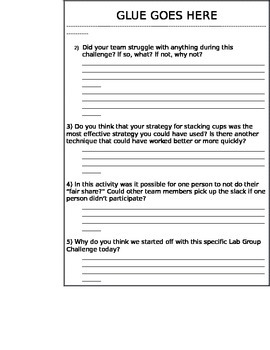 Lab Groupwork Challenge: Interactive Science Notebook Format