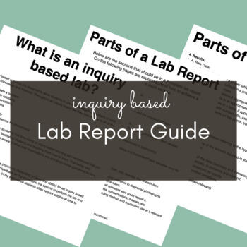 Lab Guide for Inquiry Based Labs