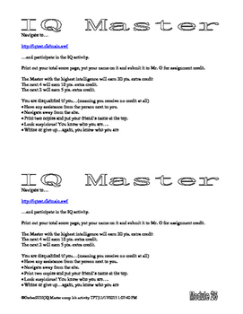Psychology Lab IQ Master Intelligence