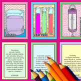 Lab Equipment Coloring Trading Cards and Accordion Book