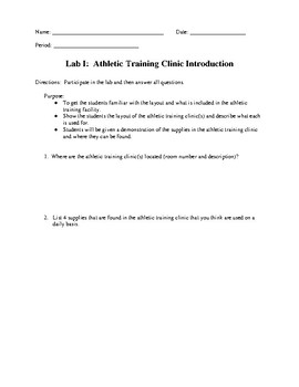 Lab: Introduction to the Athletic Training Clinic