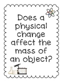 Activity Pack: Physical Changes and Conservation of Mass Lab