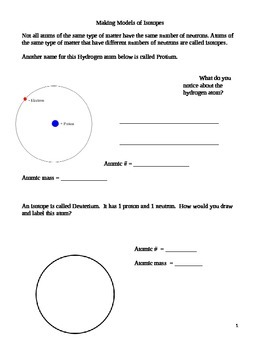 Lab - Isotope activity