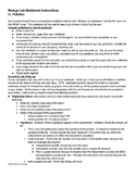 Lab Notebook Student Instructions - EDITABLE