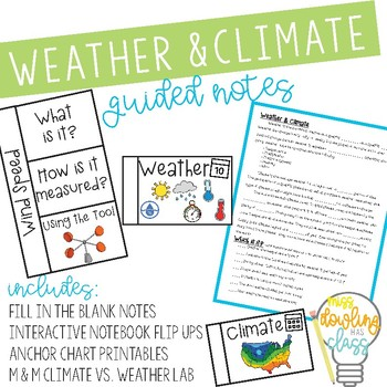Lab, Notes, and Anchor Chart Pictures for Weather vs. Climate