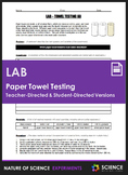 Lab - Paper Towel Absorbency (Teacher & Student-Directed Versions