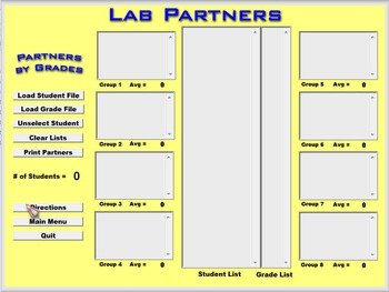 Teachers Tools - Lab Partners Software