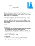 Lab Performance Assessment and Rubric: Density of Liquids