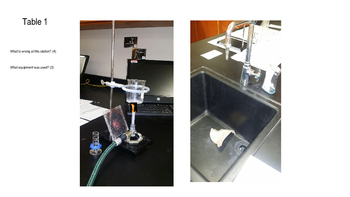 Lab Practical for Chemistry Safety