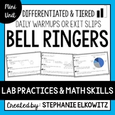 Lab Safety, Lab Tools and Lab Skills Bell Ringers
