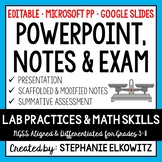 Lab Safety, Lab Tools and Lab Skills PowerPoint, Notes & Exam