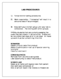 Lab Procedures and Safety Guidelines for the FACS Classroom