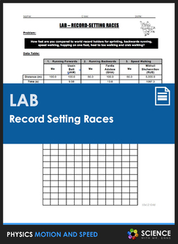 Lab - Record Setting Races (Calculating Average Speed)