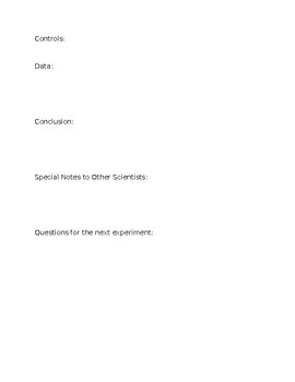 Lab Record Sheets