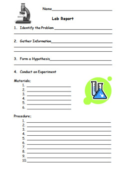 Lab Report Blank with Rubric