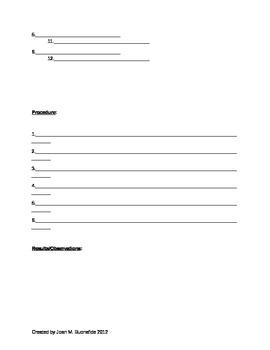 Lab Report Form Template - Handwritten Version