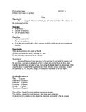 Lab Report Format Handout