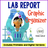 Lab Report Graphic Organizer for All Science Subjects Grades 5-12