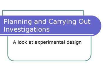 Lab Report Outline - Middle School Science