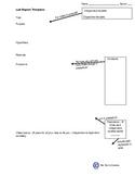 Lab Report Plan Template
