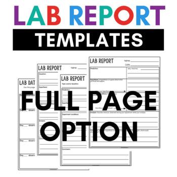 lab report templates explore the scientific method tpt