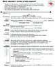 Lab Report Rubric w/ Student Handout