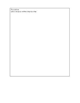 Lab Report (Scientific Method)