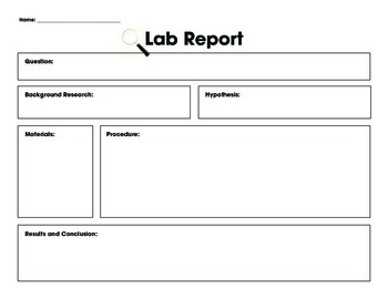 Lab Report Template Lab Report Template
