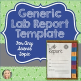 Lab Report Template, Generic, Science, Editable Vocabulary Cards