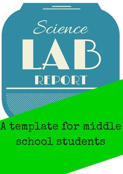 Lab Report Template Middle School And High School Science Tpt