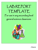 Lab Report Template for Secondary Science
