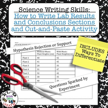 Lab Report Writing How to Write Results and Conclusions