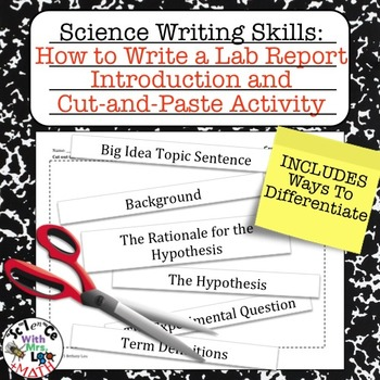 Lab Report Writing How to Write an Introduction and Cut and Paste Activity