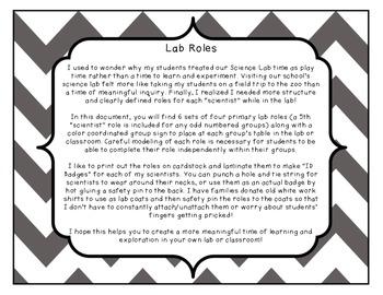 Lab Roles