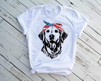 Lab SVG Labrador USA Bandana mask United States Flag Head Dog 4th July 1371s