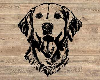 Lab SVG Labrador dog head Silhouette Black Dog retiever Puppy Breed 1138S
