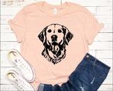 Lab SVG Labrador dog head Silhouette Black Dog retiever Puppy Breed 1138S