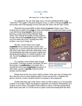 Lab Safety 2 (790L) - Science Informational Text