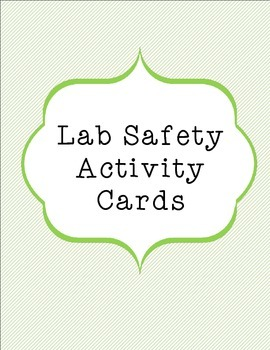 Lab Safety Activity Cards