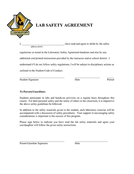 Lab safety agreement by gobys lessons teachers pay teachers platinumwayz