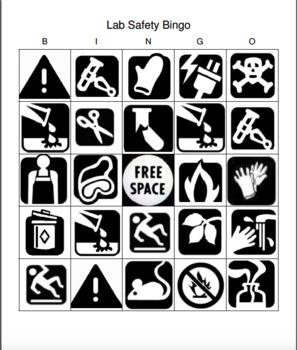 Lab Safety Bingo
