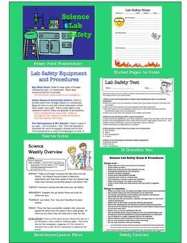 Lab Safety Bundle... Power Point ... Handouts ... Test