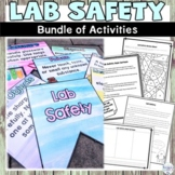 Lab Safety Bundle of Nonfiction Review Activities, Project and Classroom Decor
