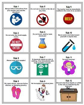 Lab Safety Card Game