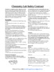 Lab Safety - Chemistry Lab Safety Contract