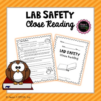 Lab Safety Close Reading