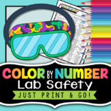 Lab Safety - Color by Number - Back to School Science Activity