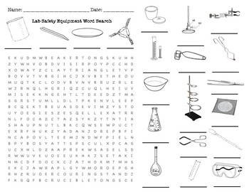 Lab Safety Equipment Word Search