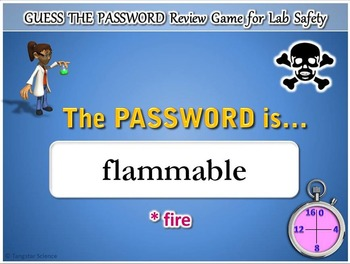 Lab Safety - Guess the Password Terminology Review Game {Editable}