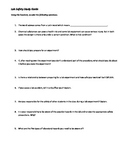 Lab Safety Guided Reading Study Guide